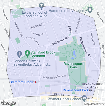 Map of property in Ravenscourt Park