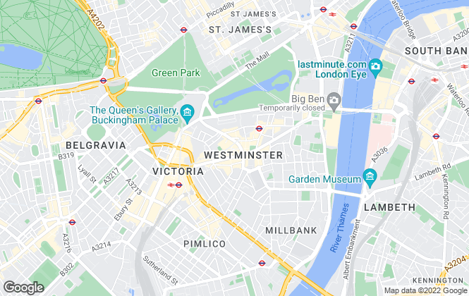 Map for Savills, Westminster