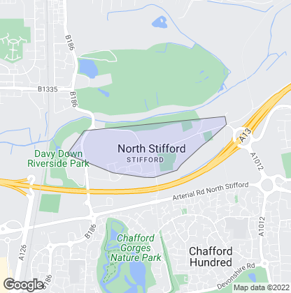 Map of property in North Stifford