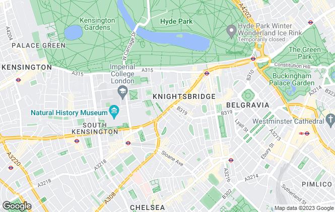 Map for Hamptons International Lettings, Knightsbridge