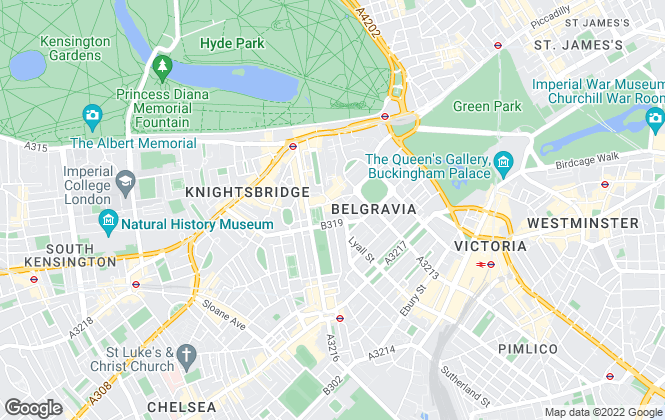 Map for Chestertons Lettings, Knightsbridge
