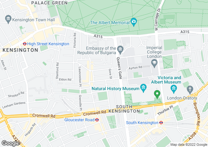 Map for Queen's Gate Terrace,