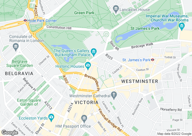 Map for Palace Place,