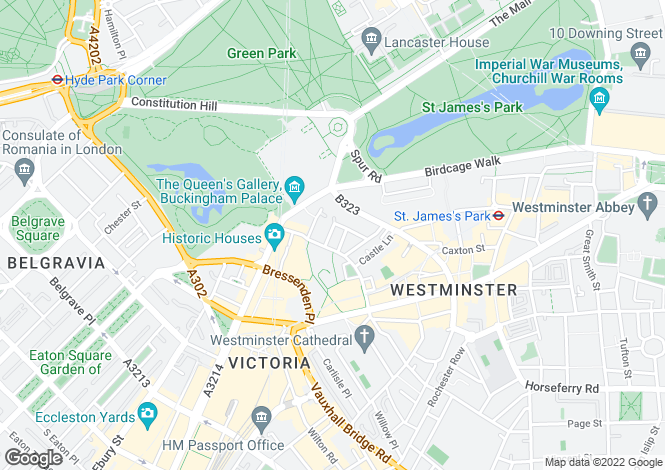 Map for Catherine Place, Westminster, London, SW1E