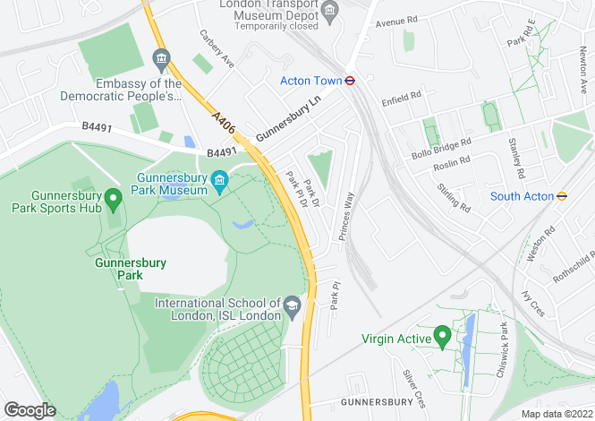 Map for Gunnersbury Avenue, Acton, Acton