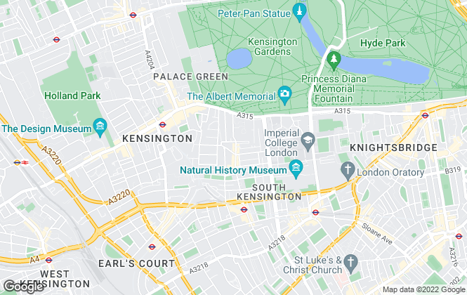 Map for Douglas & Gordon, Kensington Gate