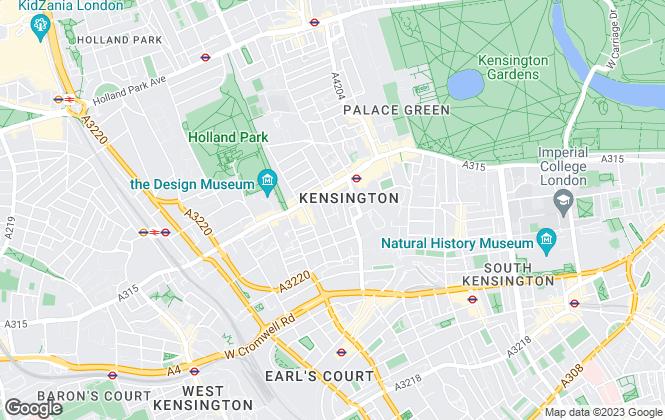 Map for Evolv Properties Limited, Kensington