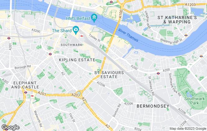 Map for Garrett Whitelock, London Bridge