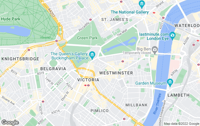 Map for MyLondonHome, Central London