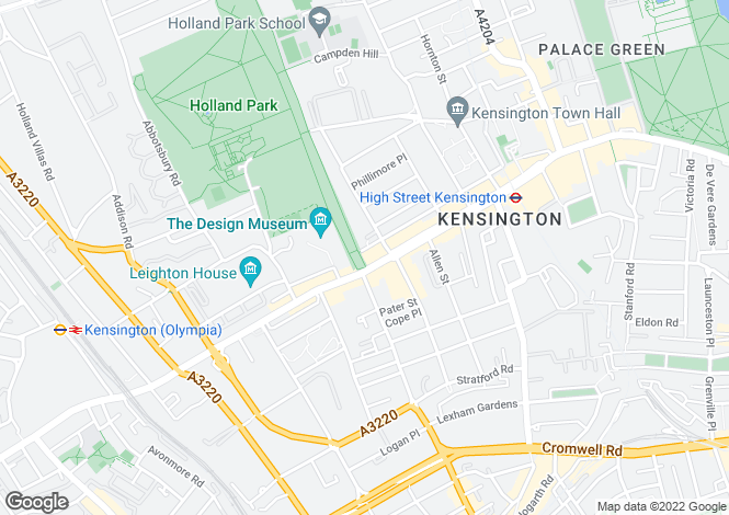 Map for Troy Court, Kensington High Street, W8