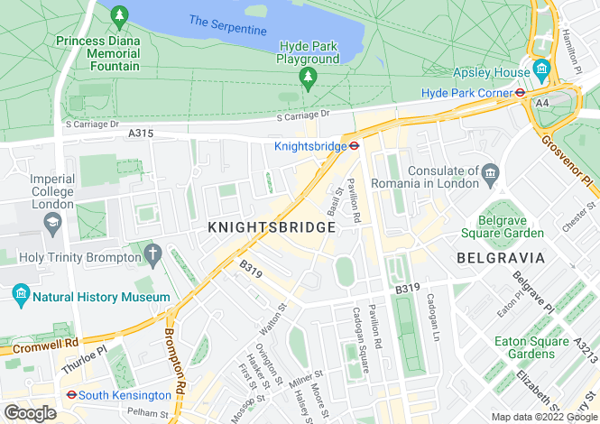 Map for LUXURY OFF MARKET PROPERTIES IN LONDON