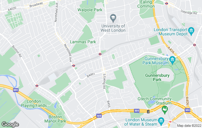 Map for Russell Collins, Ealing - Lettings
