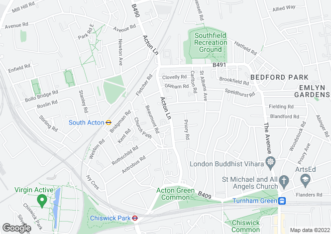 Map for Acton Lane, Park Royal, London, W4