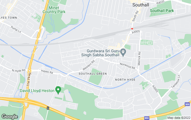 Map for Hiltons Estates, Southall