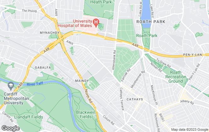 Map for Michael Jones & Co, Cardiff