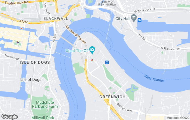 Map for Greenwich Peninsula, London