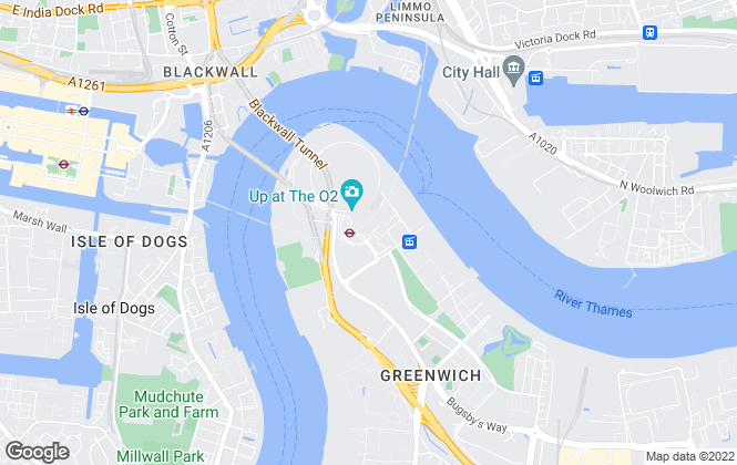 Map for Greenwich Peninsula, London - Sales