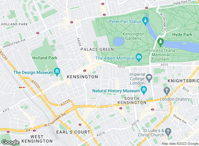Map for Benham & Reeves Lettings, Kensington