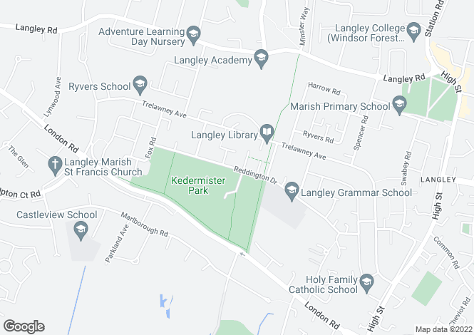 Map for Reddington Drive,
