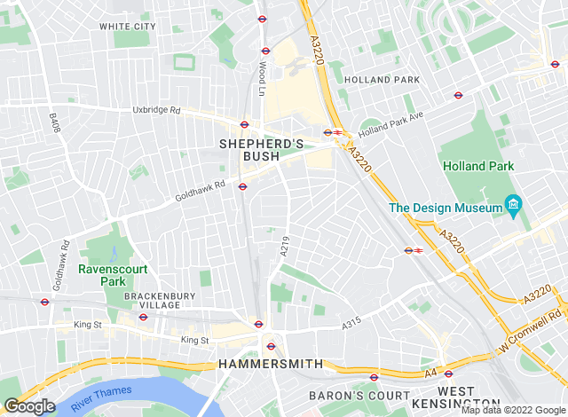 Map for Barnard Marcus, West Kensington