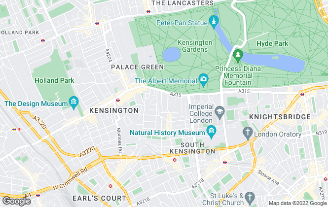 Map for Palace Gate, Kensington