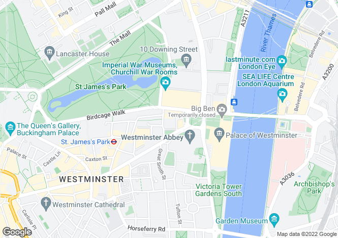 Map for Romney House, 47 Marsham Street, London, SW1P