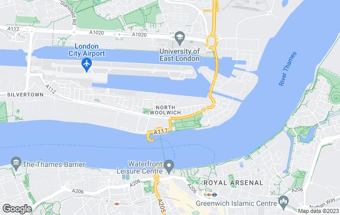 Map for 100 Key Properties, London