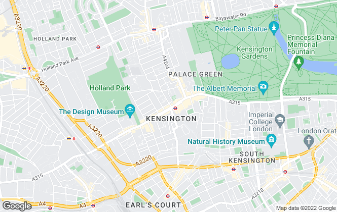 Map for Chestertons Sales, Kensington High Street