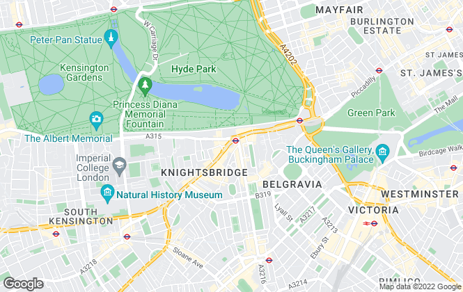 Map for Berkeley Lettings & Management Limited, Knightsbridge
