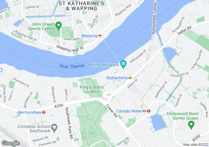 Map for Bombay Wharf, 103 Rotherhithe Street, London, SE16