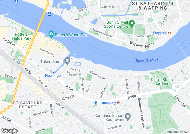 Map for Luna House, 37 Bermondsey Wall West, Shad Thames