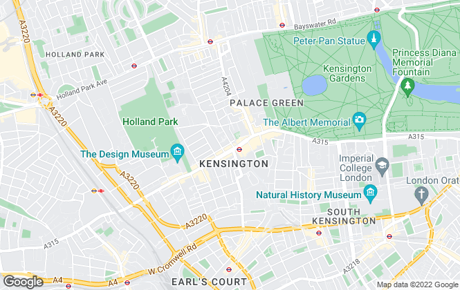 Map for Chestertons Estate Agents , Kensington High Street Lettings