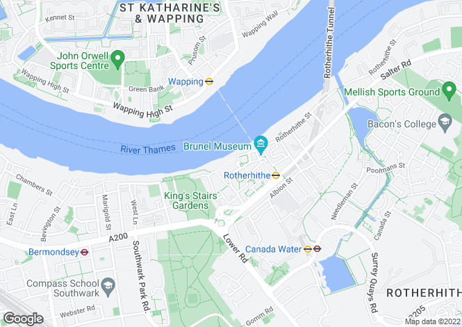 Map for Hope Wharf SE16