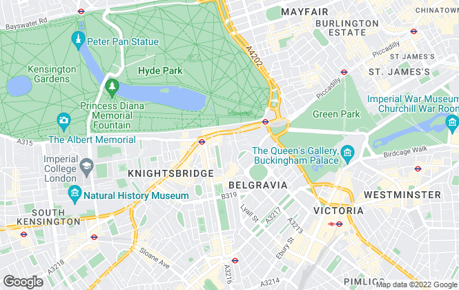 Map for Douglas Lyons & Lyons, Belgravia