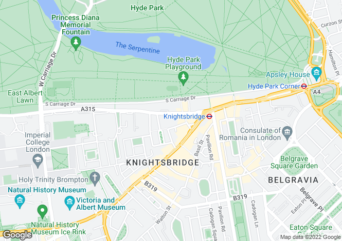 Map for Knightsbridge, London