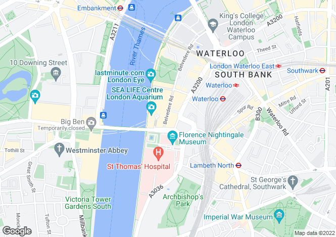 Map for West Block, County Hall Apartments, Forum Magnum Square, London