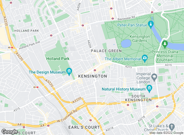 Map for Hamptons International Sales, Kensington