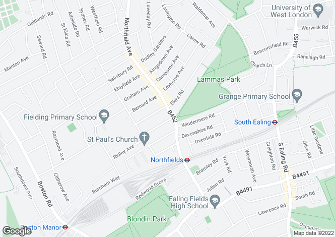Map for Northfield Avenue