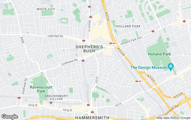 Map for Austin D'Arcy, Hammersmith