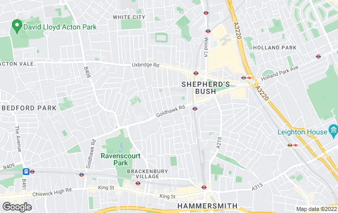 Map for Andrews And Stacey Ltd, Shepherds Bush