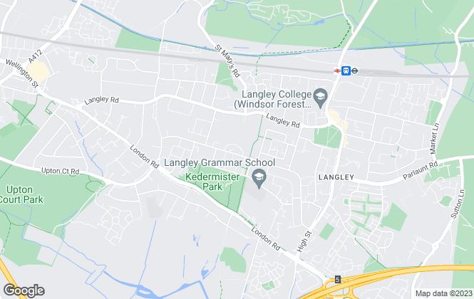 Map for Glenn Flegg & Company, Langley