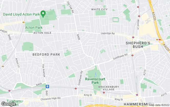 Map for Philip Wooller, Shepherd's Bush & Hammersmith