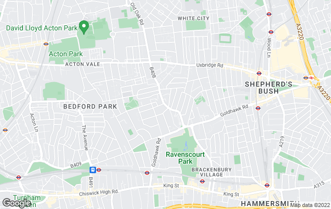 Map for Northfields, Shepherds Bush