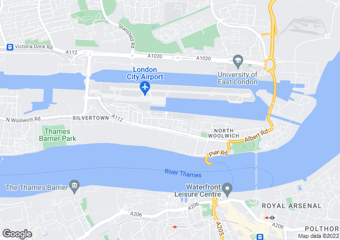 Map for New Build near Royal Victoria Docks