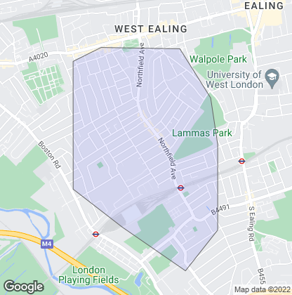 Map of property in Northfields