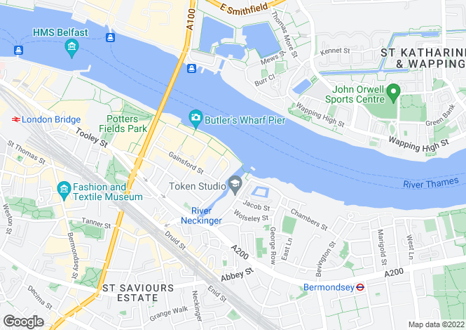 Map for Tea Trade Wharf, Shad Thames