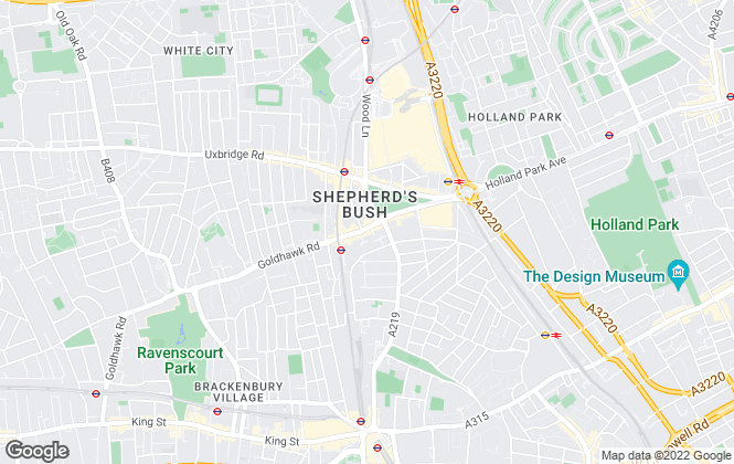Map for John D Wood & Co, Shepherds Bush & Brook Green
