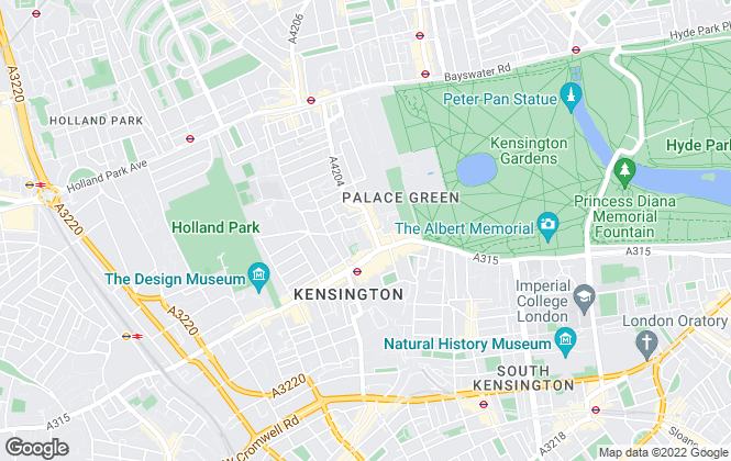 Map for Marsh & Parsons, Kensington