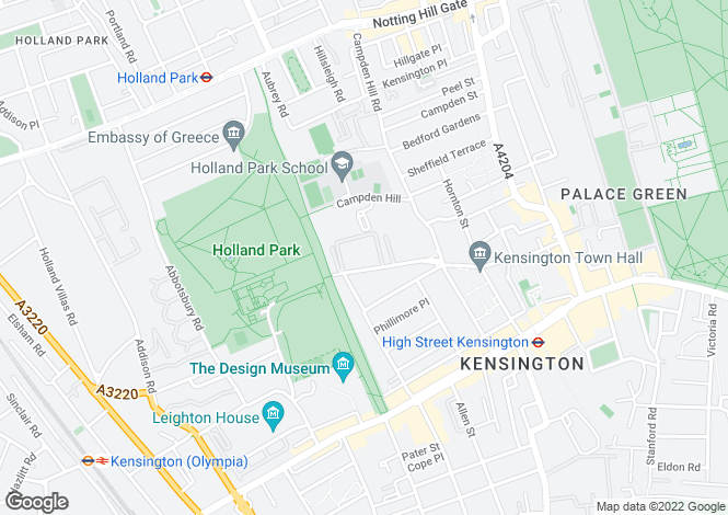 Map for Duchess of Bedfords Walk, Kensington, London, W8