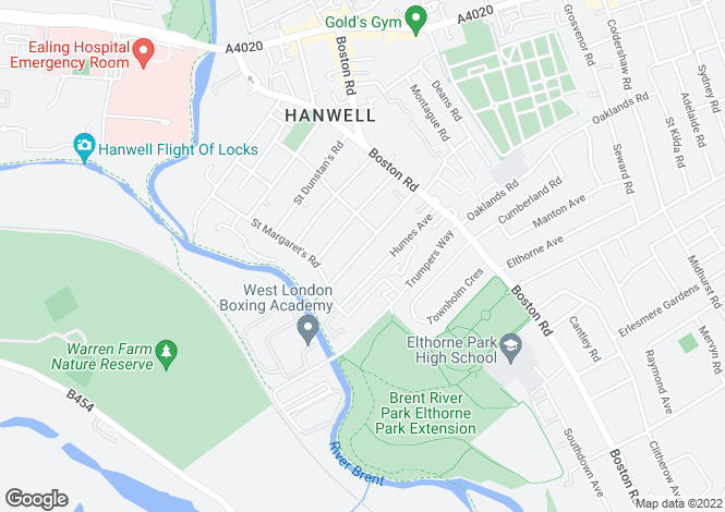 Map for Studley Grange Road, Hanwell, London, W7 2LU